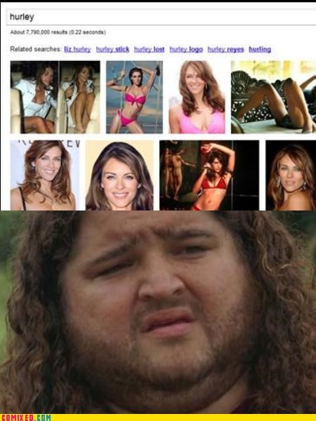 elizabeth hurley,google image search,hurley,lost,mistaken identity,the internets