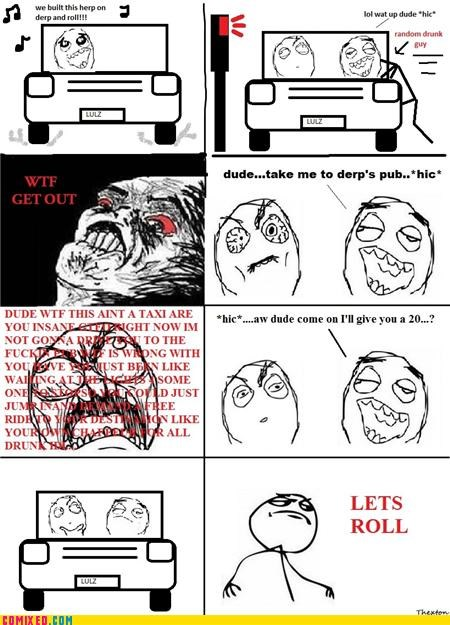 car derp drinking rage faces starship - 4448899072