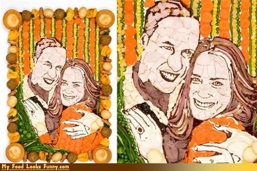 engagement england kate middleton meat portrait prince william royalty veggies william - 4448964864