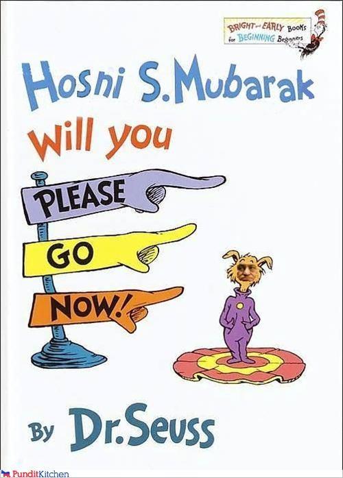 books,dr seuss,egypt,Hosni Mubarak