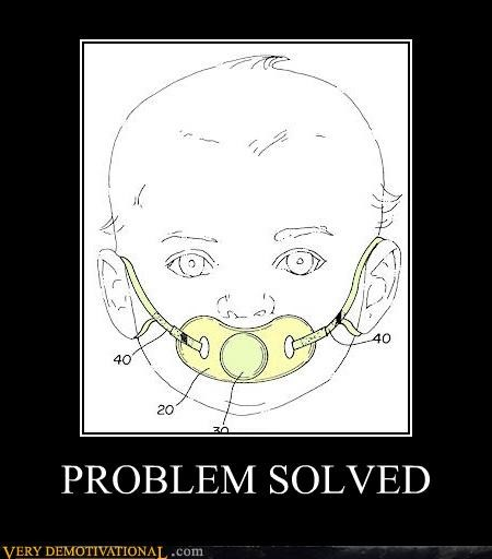 baby pacifier problem fixed - 4449024768