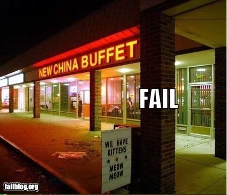 animals Cats chinese buffet failboat food g rated juxtaposition restaurant yikes - 4449198336