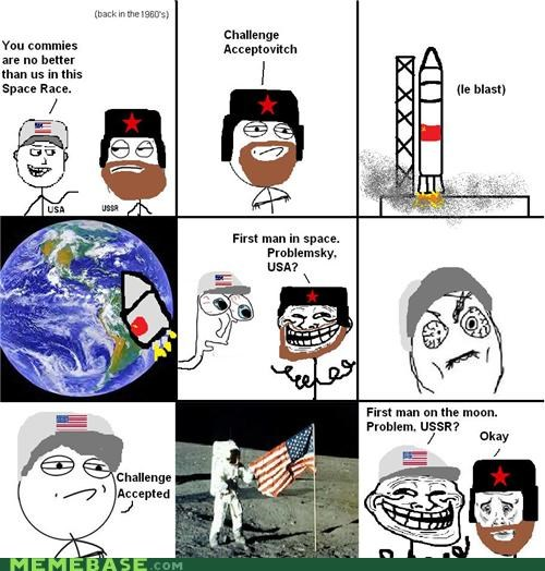 cold war moon walk space race troll face