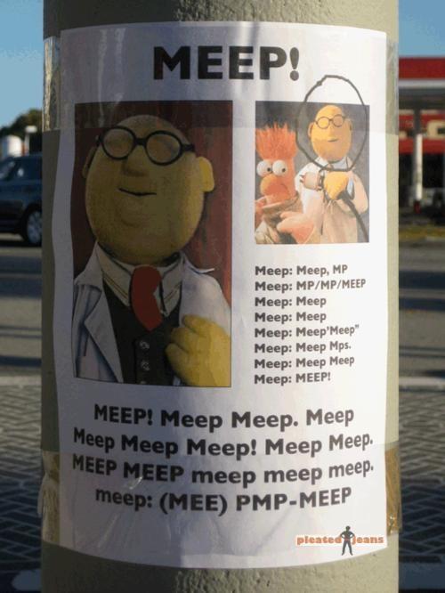 beaker dr-bunsen-honeydew meep muppets