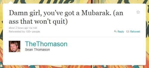 baby got Mubarak,tweet