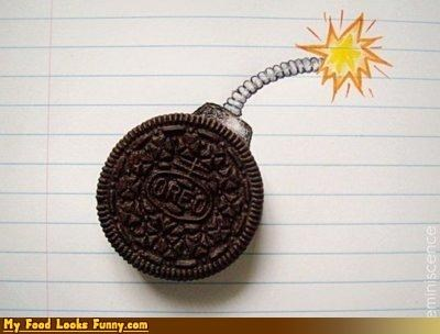 bomb cookies drawing fuse oreo