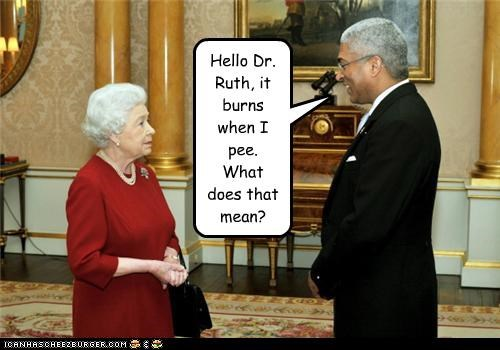 burns dr-ruth idiot mistaken identity pee Queen Elizabeth II sex - 4450223872