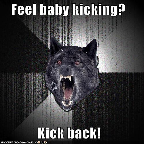 baby,Insanity Wolf,kick,kicking,preggo