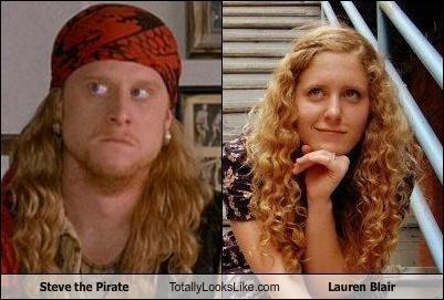 steve the pirate totally looks like lauren blair totally looks like