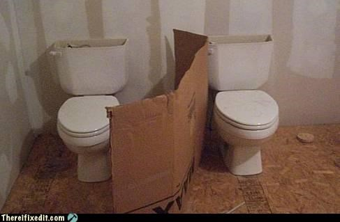 bathroom bathroom privacy cardboard toilets wtf - 4451468032
