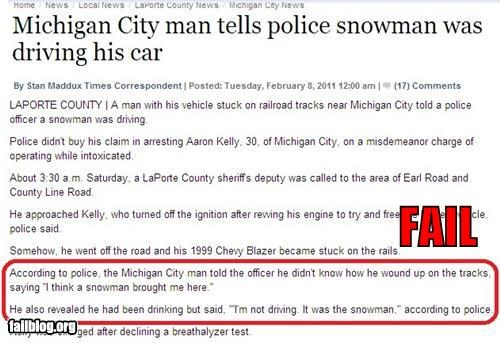 chauffeur,driving,failboat,oh michigan,Probably bad News,snowman