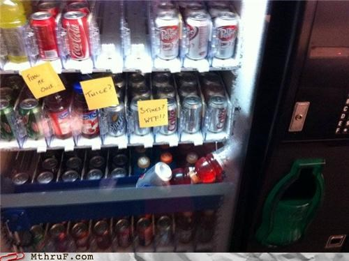 facepalm,note,soda,sticky,vending machine