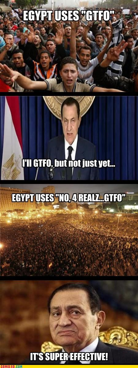 egypt gtfo Hosni Mubarak Pokémon politics - 4451677696