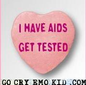 aids,candy hearts,STD,sti,Valentines day,VD