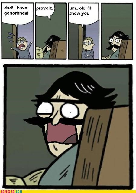 gross kids stare dad STD the internets - 4452115968