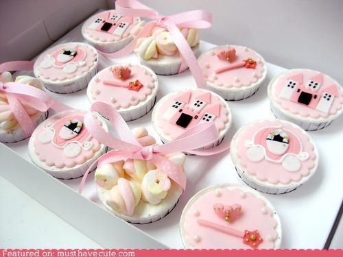 cinderella,cupcakes,disney,epicute,fondant,pink,princess