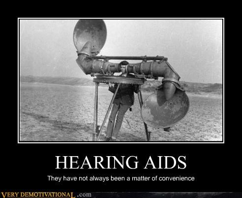 wtf old timey huge hearing aid