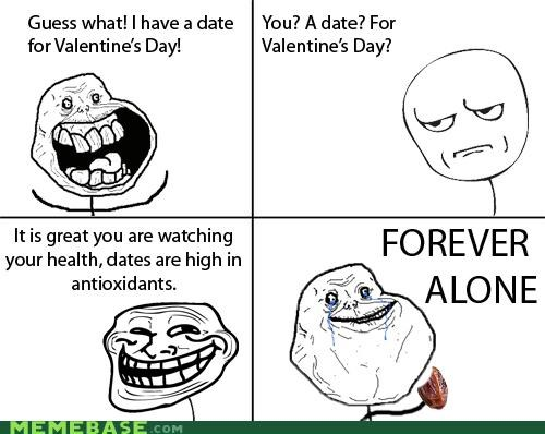 antioxidants,date,forever alone,health,Valentines day