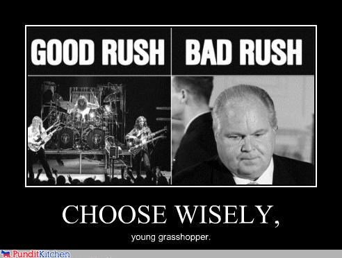 band choices decide good vs evil rush Rush Limbaugh - 4453200896