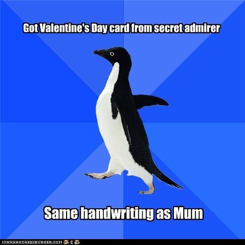 handwriting analysis mom secret admirer socially awkward penguin - 4453244672