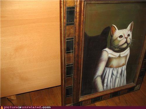 art work boobies cat human - 4453295104