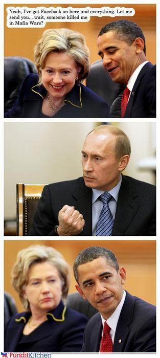 barack obama comixed facebook Hillary Clinton mafia mafia wars russia Vladimir Putin vladurday - 4453415168