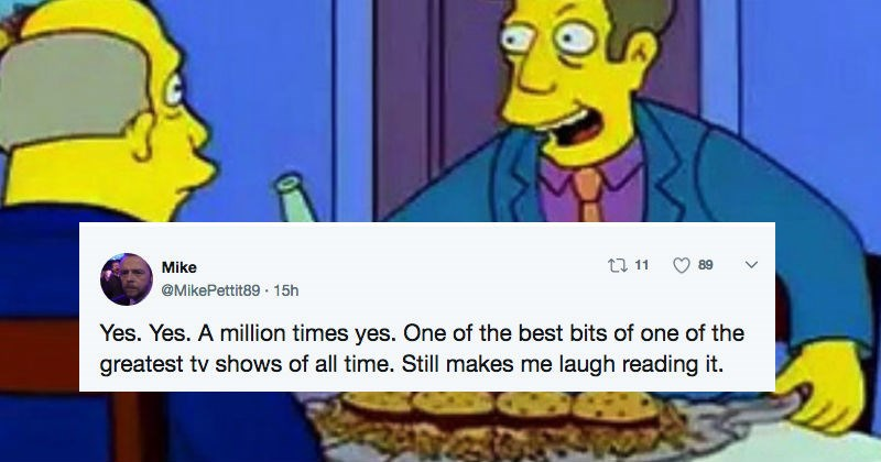 "The Simpsons TV writer shares an original draft for the ""Steamed Hams"" episode, and makes our year."