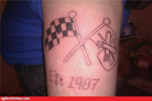 bad chainsaws FAIL tattoos funny - 4453882880