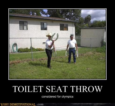 TOILET SEAT THROW considered for olympics