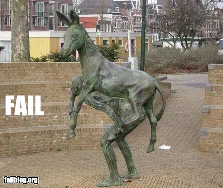 donkey failboat innuendo is-he-giving-him-a-ride man statue Things That Are Doing It - 4454115584