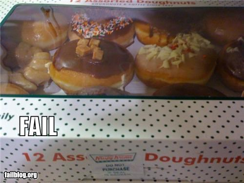butts doughnuts failboat food gross label no thanks placement - 4454783488