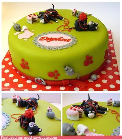 cake Cats daphne epicute fondant yarn - 4455276288