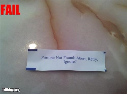 FAIL,failboat,fortune cookies,g rated,retry