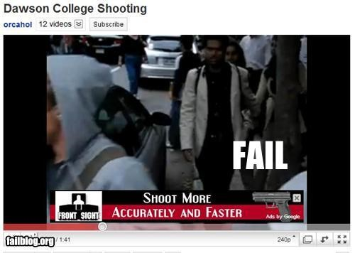Ad,failboat,google,g rated,guns,insensitive,poor planning,youtube