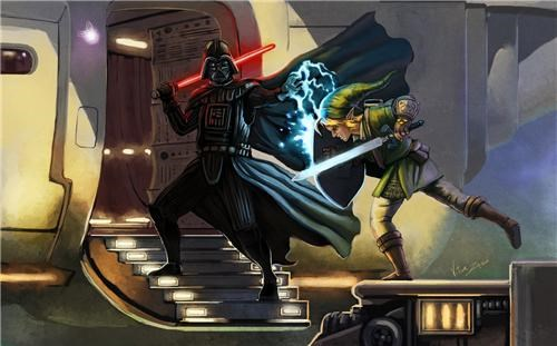 darth vader Fan Art legend of zelda link star wars - 4456258560