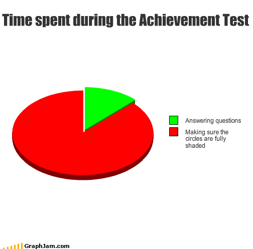 Time spent during the Achievement Test