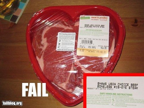 failboat g rates holiday meat steak Valentines day weird - 4456502016