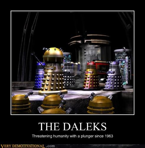 THE DALEKS Threatening humanity with a plunger since 1963