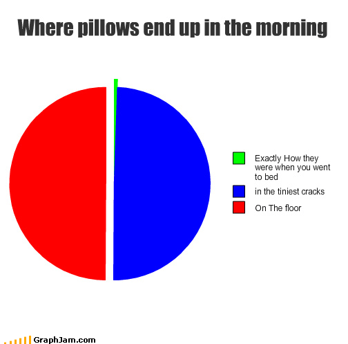 pie charts,pillows,graphs,funny