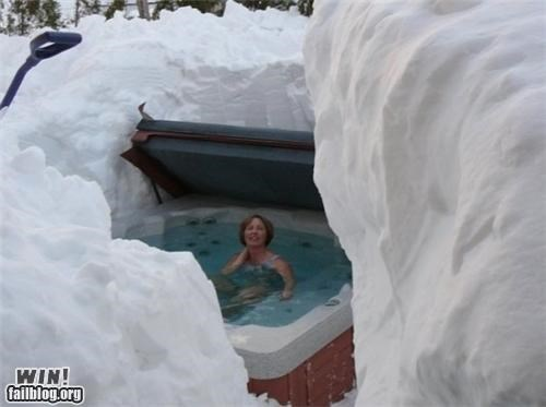 classy,hot tub,oh canada,snow,snowpocalypse,winter,Winter Wonderland