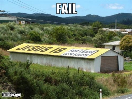 classic failboat g rated religion roof signs - 4457337856