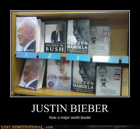 JUSTIN BIEBER Now a major world leader