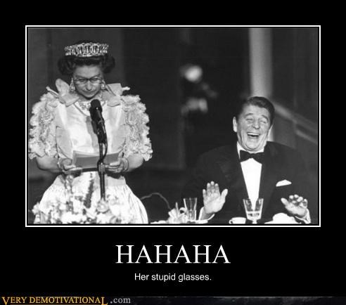 queen elizabeth haha laughing Ronald Reagan - 4457844224