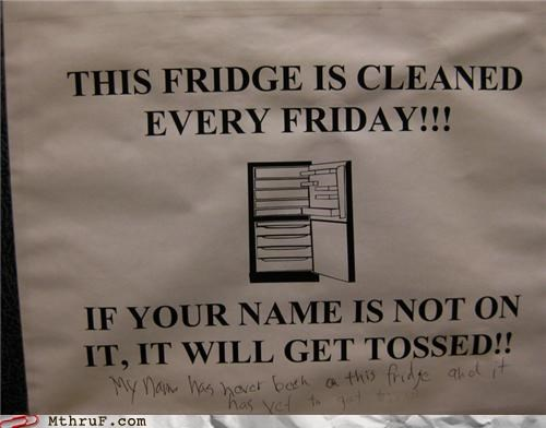 fridge literal note passive aggressive - 4458126336