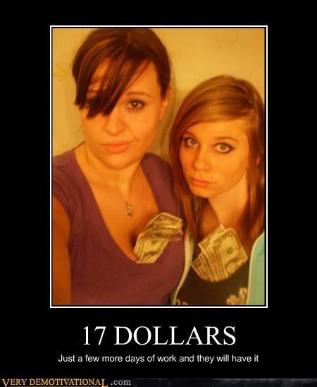 Sexy Ladies 17 dollars money - 4458633984