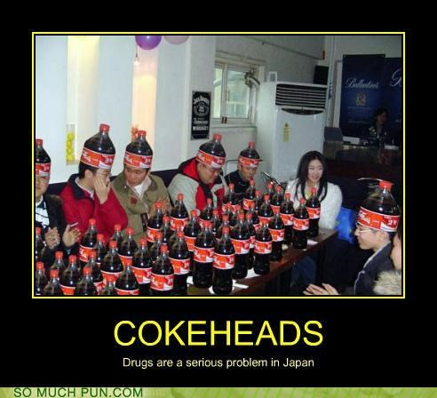 addiction,coca cola,coke,coke head,drugs,Japan,literalism,pop,problem,slang,soda