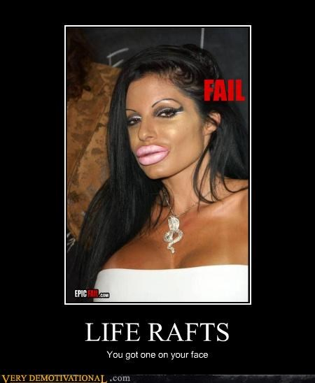 face eww so gross life raft lips
