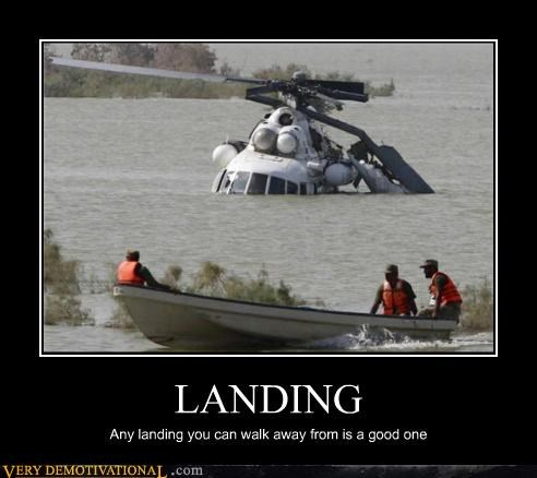 landing helicopter crash