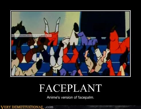 anime facepalm faceplant