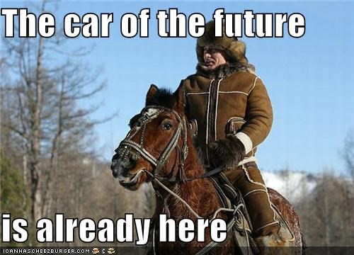 animals car future horse Vladimir Putin vladurday - 4458814464